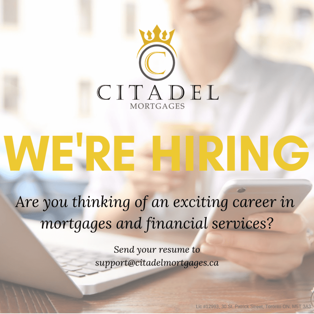 Were Hiring Citadel Mortgages - Become a Mortgage Agent