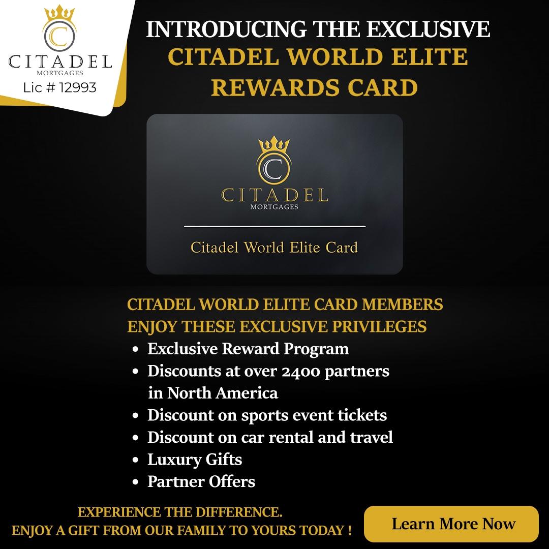 Citadel Mortgages Rewards Card